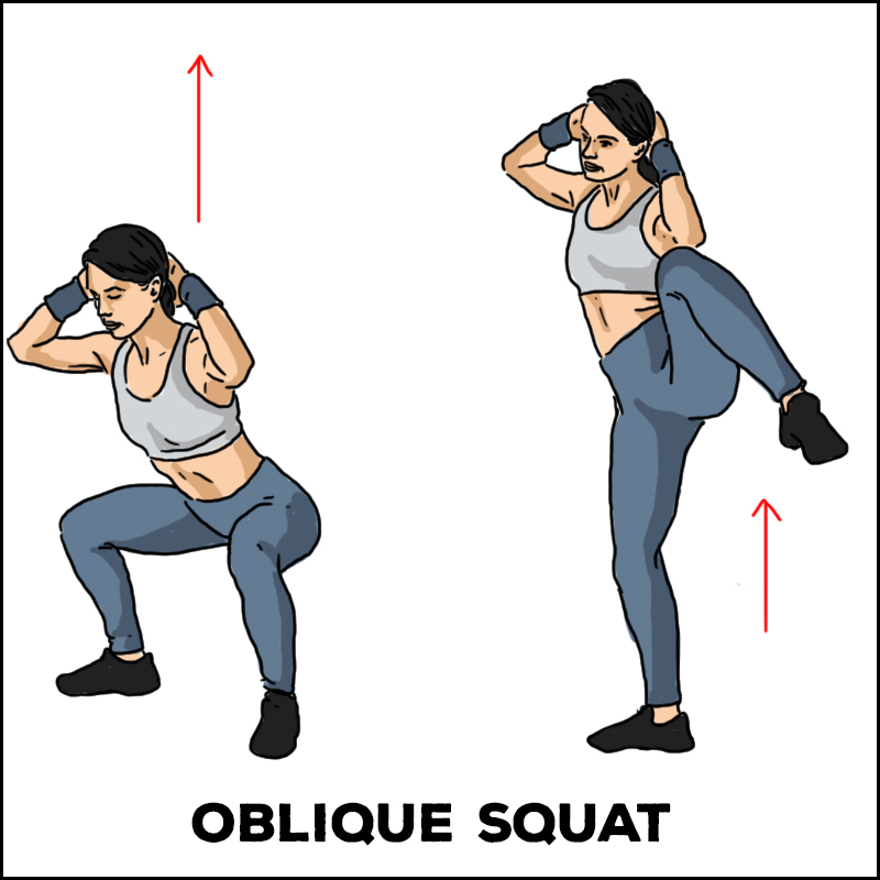 Oblique Squat