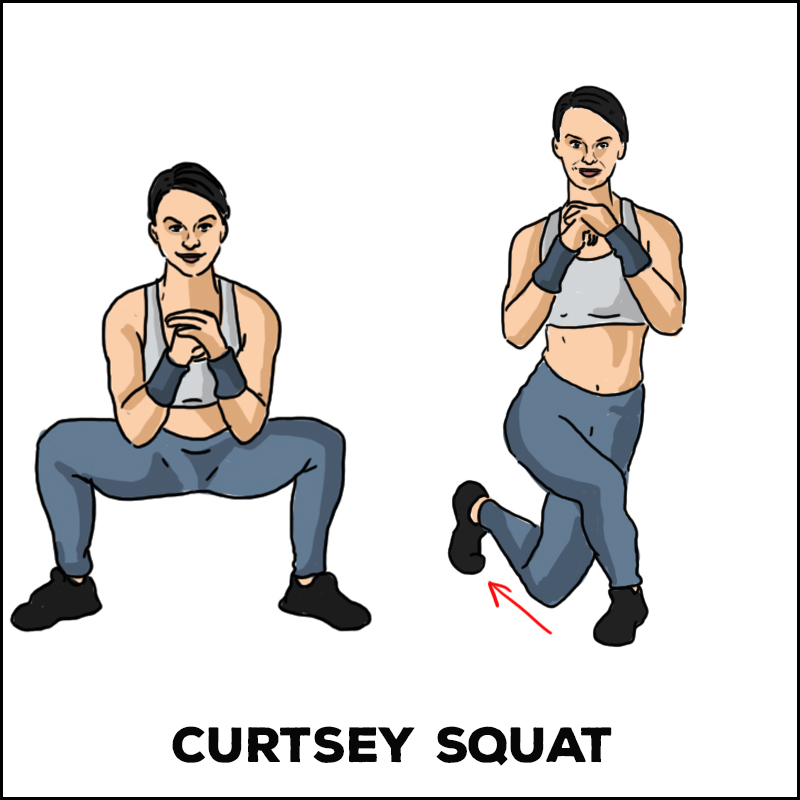 Curtsey Squat