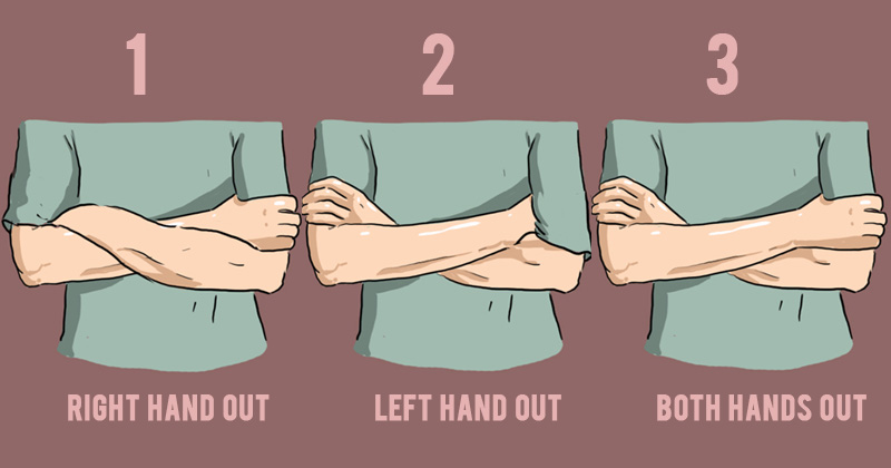 The different ways people cross their arms